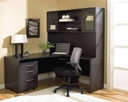 Espresso Office Desk Modern Espresso L Shaped Desk With Hutch Mobile Pedestal
