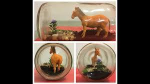 diy how to make in a bottle terrarium home decor the horse