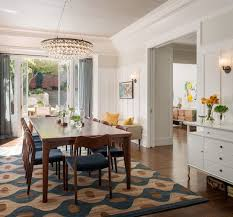 what size rug under dining table 10 tips for getting a dining room rug just right houzz