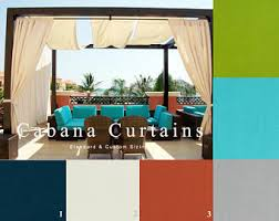 Outdoor Cabana Curtains Outdoor Curtains Etsy