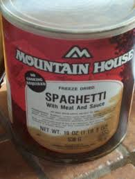 mountain house spaghetti with meat and sauce 40 year storage food