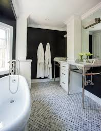 His And Hers Washstands Separated By Floor To Ceiling Cabinets - Floor to ceiling cabinets for bathroom