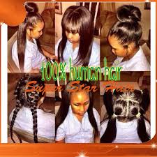 high ponytail full wig with baby around glueless full