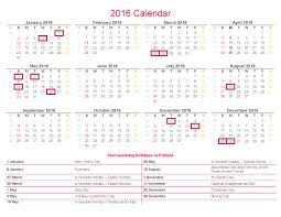 2016 calendar non working holidays in poland rsm poland en