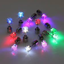 led earrings buy 1pc light up led earring ear stud party accessories