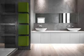 Beige And Black Bathroom Ideas Small Leather Padded Stool Beside Floating Washbasin Contemporary
