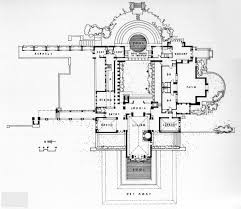 Hollyhock House Plan | plans of architecture frank lloyd wright hollyhock house 1921