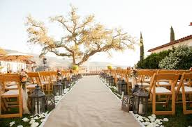 burlap wedding aisle runner rustic wedding in ojai valley california inside weddings