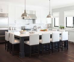 collection in large kitchen island with seating and kitchen island