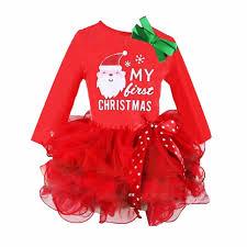 my christmas baby girl baby girl kids my christmas sleeve dress santa claus
