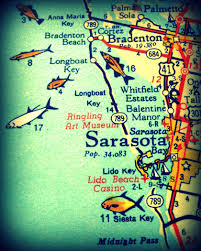Map Of Venice Florida by Sarasota Siesta Key 1960s Florida Map It U0027s About More Than