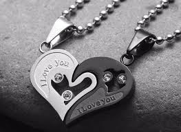 heart couple necklace images Heart love couple necklaces i girlfriend gifts my couple gifts jpg