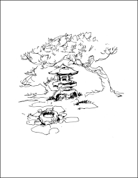 japanese garden traditional japanese house house drawing and