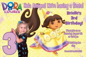princess dora birthday invitations