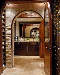basement wine cellar kitchen contemporary with white countertop