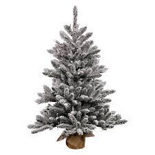 2ft unlit flocked anoka pine artificial tree in burlap