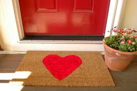 front door mat in mainstays texture blocked
