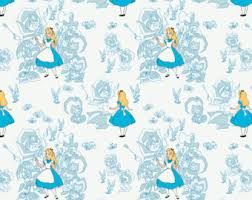 alice wonderland fabric etsy