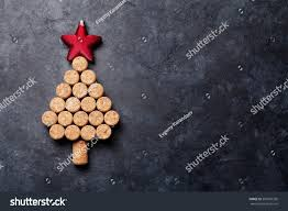 wine corks shaped christmas tree on stock photo 503870356