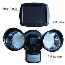 Led Solar Security Light With Motion Detector by New Outdoor 36led Security Flood Motion Sensor Light Black Solar