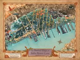 San Francisco On The Map by Geogarage Blog New Map Reveals Ships Buried Below San Francisco