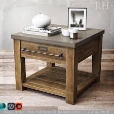 restoration hardware sofa table restoration hardware zinc top mercantile side table 3d models for