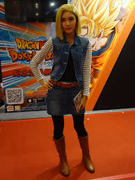 z android 18 file cosplayer of android 18 z at comic exhibition