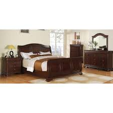 picket house furnishings conley cherry sleigh 5pc bedroom set