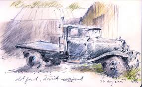 scott a stultz drawings logging truck buck u0027s harbor maine 2011