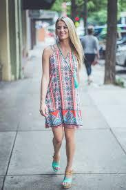 dress aztec bold summer sundress entourage clothes prep