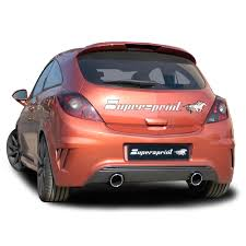 opel red performance sport exhaust for corsa nurburgring opel corsa d opc