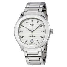 piaget automatic piaget polo s silver automatic men s g0a41001 polo