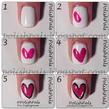 tutorial nail art one direction step by step heart nail art designs for valentine s day hative