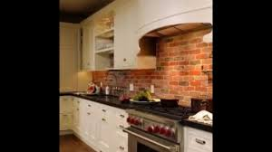 Brick Tile Backsplash Kitchen Red Brick Tile Backsplash Granite Countertop Red And White