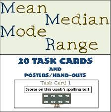 26 best mean median mode range images on pinterest teaching