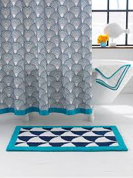 Modern Pattern Curtains More Modern Shower Curtain Finds For A Stylish Powder Room