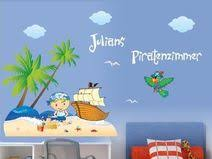 piratenzimmer wandgestaltung wandtattoos wandtattoo piratenzimmer mit namen des kindes ein