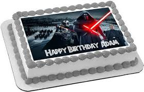 wars edible cake toppers wars 7 awakens 1 edible cake topper cupcake toppers