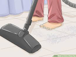 how to vacuum shag rug 3 ways to clean a shag rug wikihow