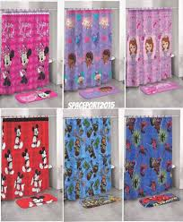 bathroom set shower curtain 12 hooks rug boys girls room decor lot
