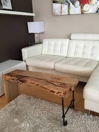 edge bench live edge coffee table with steel legs rustic coffee