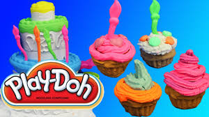 play doh videos cake mountain playdough cupcakes on disney