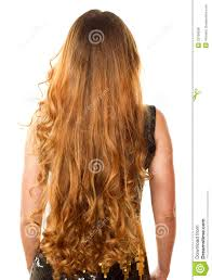 hairstyles back view only hairstyle from long curly hair from the back stock photo image