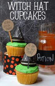 halloween cake mix easy witch hat cupcakes poofy cheeks