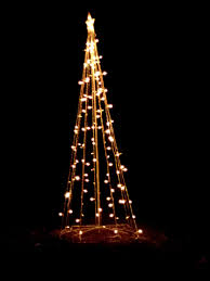 lights shaped like tree yard decoration picture in