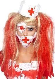 Nurse Halloween Costume Bloody Nurse Costume Kit Blood Splatter Nurse Costume
