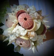 seashell bouquet wedding pastel seashell sea urchin bouquet shell bouquets