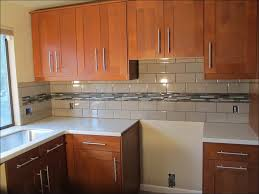 Blue Tile Kitchen Backsplash Kitchen Astonishing Butcher Block Countertops Lowes Natural