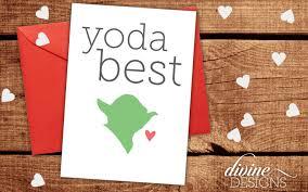 wars valentines day yoda best wars card valentines day card