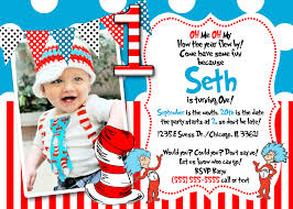 dr seuss 1st birthday invitations dr seuss 1st birthday